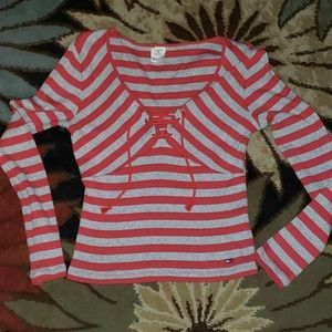 Tommy Jeans jrs striped shirt with drawstring